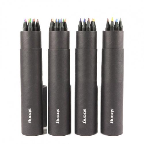 Black wooden Color pencil Box Set